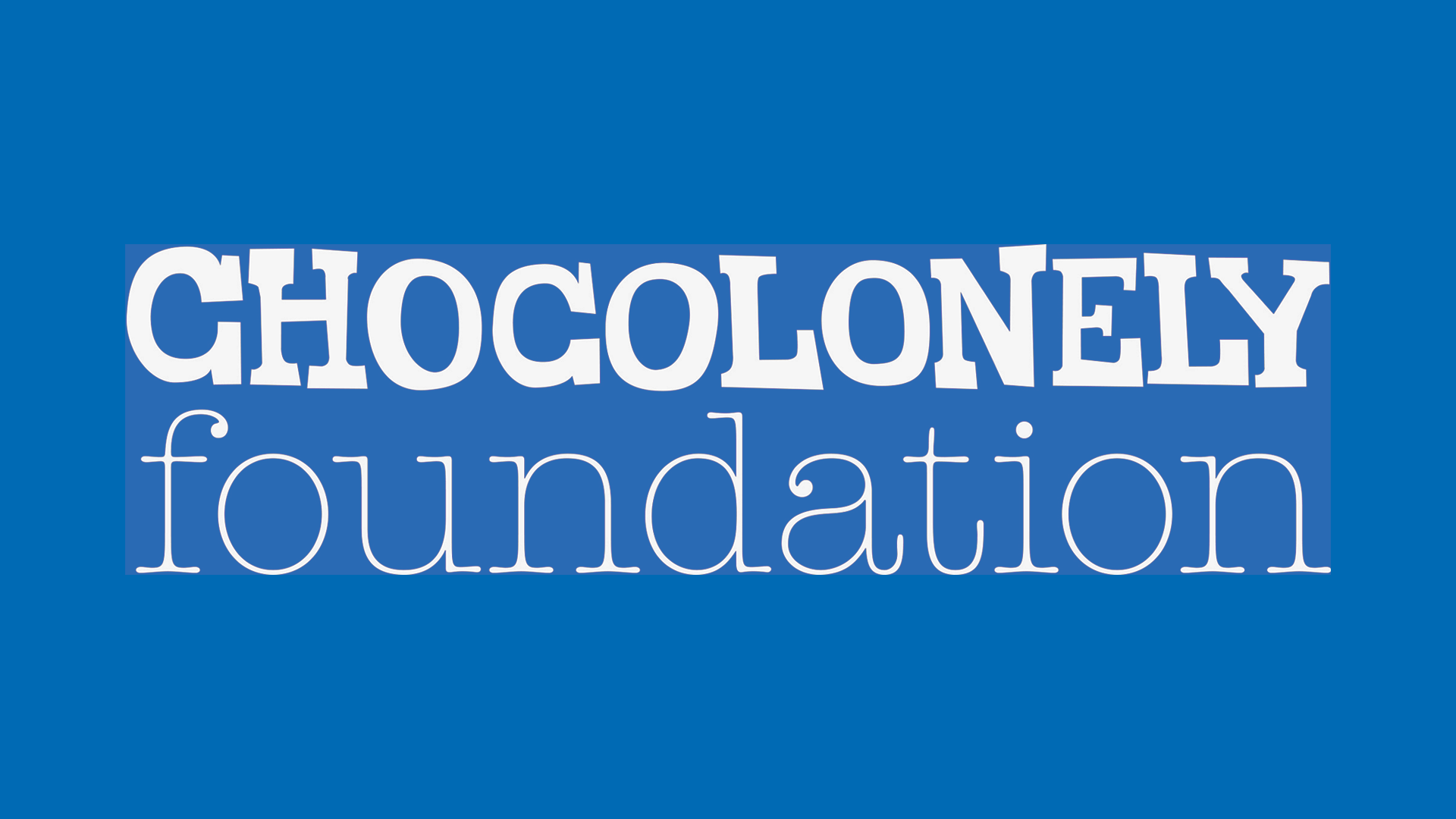 Chocolonely Foundation Logo Wit Op Blauw